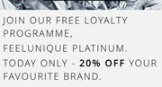 Join the FeelUnique Platinum Club for Free & Get 10% off Your Favourite Brand