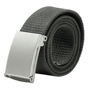 Unisex Military Style Belt with Promo Button