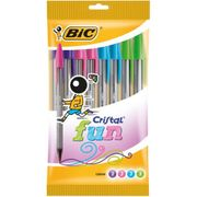 Bic Cristal Fun Ballpoint Pens Assorted Colours 10pk