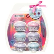 Beauty Bake Cupcake Bath Fizzers 6pk - Strawberry, Blueberry & Blackberry