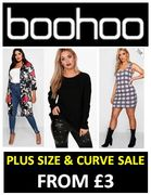 PLUS SIZE & CURVE SALE - Up to 86% OFF at BOOHOO. From £3.