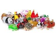 10 Mixed Animal Foil Balloons