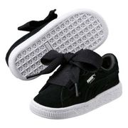 Infant Puma Suede Valentine Trainers in Black Only £13