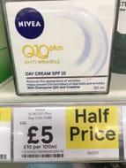 Half Price Nivea Q10 plus Anti-Wrinkle Day Cream SPF 15
