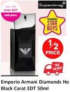 HALF PRICE STAR BUY: Emporio Armani Diamonds He Black Carat EDT 50ml