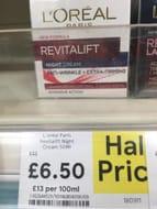 Half Price L'Oreal Revitalift Night Cream