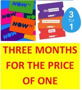 NOW TV - THREE MONTHS FOR THE PRICE OF ONE Sky Cinema / Entertainment / Kids TV
