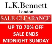 Uh-Oh Guys! It's a SALE CLEARANCE at LK Bennett Girls! Last Chance Ends Sunday