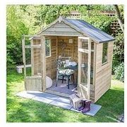 FOREST 7x5ft Oakley Overlap Pressure Treated Summerhouse