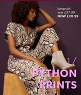 Special Offer Brown Snakeskin Print Jumpsuit