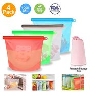 Eco-Friendly Reusable Silicone Food Storage Bags