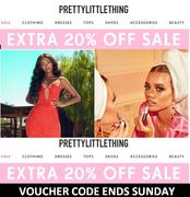 LAST CHANCE PRETTY LITTLE THING! Ends Sunday - 20% Extra off Sale with Code