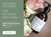 Free Neroli & Rose Hand and Body Wash worth £15 When You Spend £45