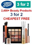 Boots BEAUTY 3 for 2, CHEAPEST FREE! 2,400+ Beauty Products Included!!