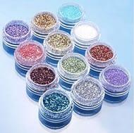 12 Nail Art Glitters Free Del