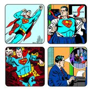 Superman Classic Set of 4 Coaster Gift Set and FREE Wilkinsons Sword Razor
