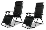 2 X DNY© Textoline Reclining Garden Chair Beach Sun Lounger