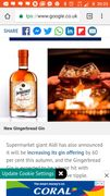 Heads up Aldis Gingerbread Gin on Sale Oct 1st