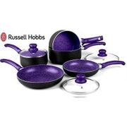 8pc Russell Hobbs Marble Effect Induction Pan Set - 3 Colours!