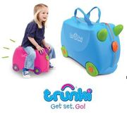 TRUNKI Ride-on Suitcase: Pink / Blue AMAZON #1 Best Seller in Children's Luggage