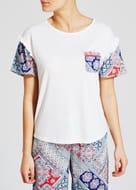 Frill Sleeve Tile Print Pyjama Top