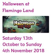 2 for 1 Entry to Flamingoland 13th Oct - 4th Nov Fancy Dress Required
