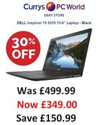 """SAVE £150. 30% OFF DELL Inspiron 15 5570 15.6"""" Laptop at Curry's eBay Store"""