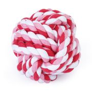 9cm Pet Dog Braided Cotton Rope Knot Ball Chew Toys Teeth Cleaning Ball