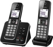 PANASONIC Cordless Phone with Answering Machine - Twin Handsets Free C&C