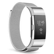 Beikell Stainless Steel Bracelet/Strap with Magnetic Lock for Fitbit Charge 2