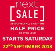Next Sale Starts Saturday! All Sale Half Price or Less!