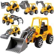 6Pcs Construction Vehicle Truck Toy, Push Engineering Children Kid Toys