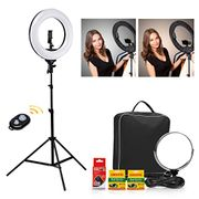 18 Bi-Color Rechargeable Camera Photo Video Ring Light Kit