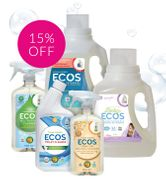 15% Off* Laundry and Home Cleaning Solutions from ECOS