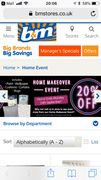 B and M Home Makeover Event . 20% off Homeware.