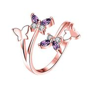 Elegant Fashion Butterfly Crystal Ring FREE DELIVERY