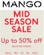 MANGO SALE up to 50% off - Ends 7th October