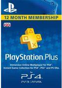 12 Months Playstation plus (PS+) UK - save 24%