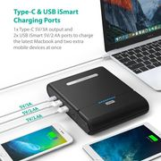 USB C Portable Charger, RAVPower 27000mAh Built in 220V AC Outlet Travel Charger