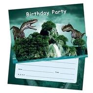 46% off - 20 X Boys Birthday Invitations - Dinosaur Postcards with Envelopes