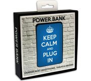 Keep Calm and Plug in Portable Power Bank - Blue