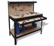 Workbench with Pegboard and Drawer Free Delivery