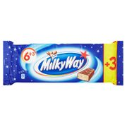 MilkyWay Bars 6 + 3 Pack at B&M for £1