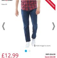 JACK and JONES Mens Clark Original GE871 LID Regular Fit Jeans