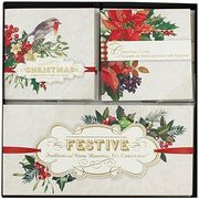 Hallmark Festive Christmas Cards - Pack of 18