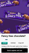 Free Chocolate on Wuntu App to Collect