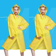 Portable Reusable Lightweight Unisex EVA Adult Raincoat Rain Ponchos