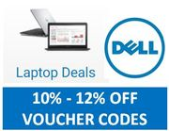 Dell Laptops - 10% off - 12% off Voucher Codes