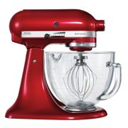 KitchenAid Candy Apple 4.8L Mixer with Glass Bowl, Ice Cream Maker & Cookbook