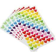 6 Sheets Heart Self Adhesive Photo Album Craft Stickers